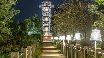 Bad Zwischenahn: Verlichting in het park | Het Tuinpad Op / In ...